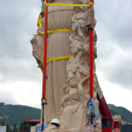 Statua Santa Rita Installazione